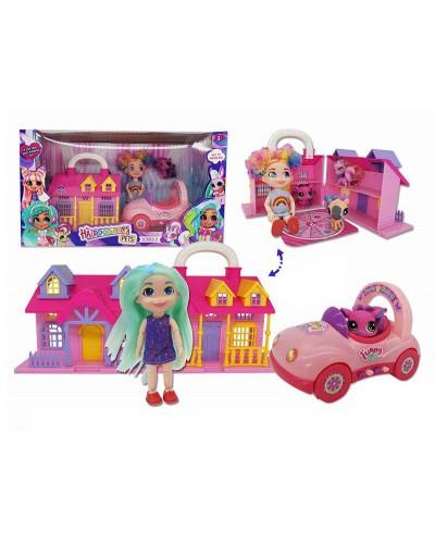 """Кукла """"Н"""" TM224 питомцы, машина, домик, аксессуары, в кор. 39,5*16*21,5 см"""