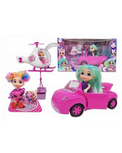 """Кукла """"Н"""" TM253A питомцы, верталет, машина, аксессуары, в кор. 39,5*16*21 см"""