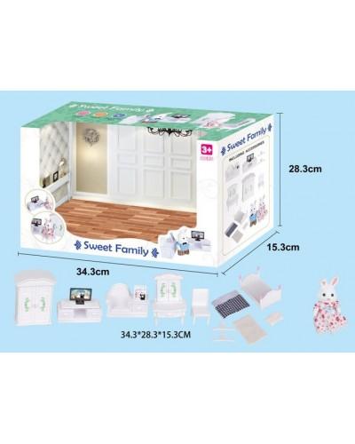 Животные флоксовые 1606F Спальня, фигурки животного в комплекте, в коробке 34*28*15см