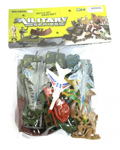Военный набор 0055-S65 в пакете 21*9.5см