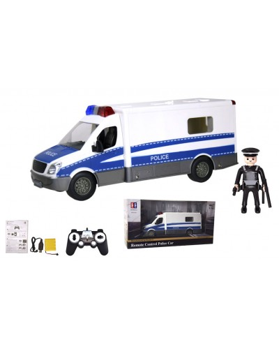 Машина аккум. р/у E672-003 полиция, свет, звук, фигурка, USB заряд, в кор. 33,2*11,4*13см
