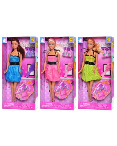 """Кукла """"Defa Lucy"""" 8185  3 вида, аксессуары, расческа, в кор. 30,5*5*14 см"""