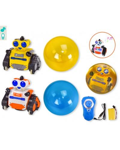 Робот аккум. р/у 3300030B 2 вида, робот в шаре, свет, звук, в кор. 43*15*24см