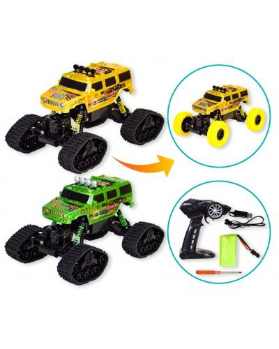 Машина р/у 9808-302BB сменные колеса, в коробке 42,6*21*22,7см