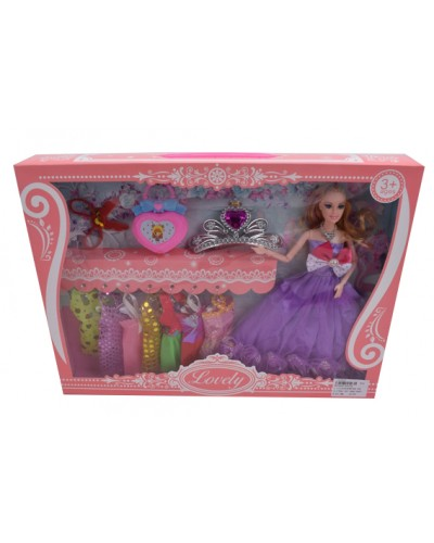 "Кукла типа ""Барби"" YS014A наряды, аксессуары, в кор. 45*32,5*6 см"