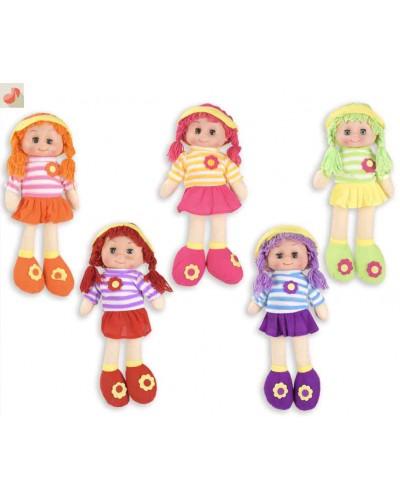 Кукла мягкая CEL-197 5 видов, МУЗ., в пакете, высота куклы - 42 см