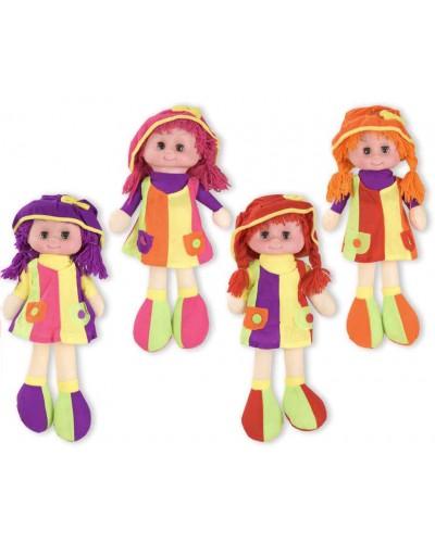 Кукла мягкая CEL-198 батар, 4 вида, МУЗ., в пакете 43*21см, высота куклы - 39 см