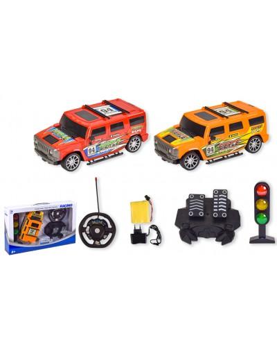 Машина аккум р/у RD520A-6/RD520-6 2 вида, светофор, педали машины, пульт на батар., в кор.
