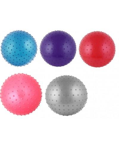 Мяч для фитнеса CO12007  85 см 1200 грамм в коробке 4 цвета с шипиками