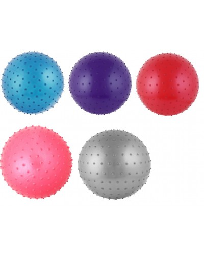 Мяч для фитнеса CO9005 65 см 900 грамм в коробке 4 цвета с шипиками