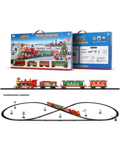 "Железная дорога батар. 1600A-7A ""Merry Christmas"" 47 дет.,свет,звук,в коробке 64*36*6см"