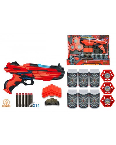 Бластер FJ903 поролон. снаряды, мишень, в кор.44*6*30см