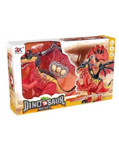 Животное на р/у  841A динозавр, свет, звук, ходит,пульт, в коробке