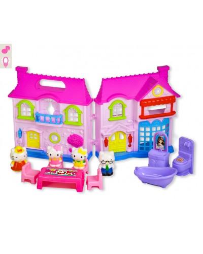 "Домик ""HK"" 8109-2 фигурки, мебель,свет,звук, в кор.38,5*7*35см"