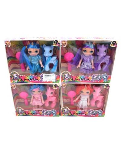 """Кукла """"P"""" 95-1 4 вида, пони, расческа, в кор.20*17*5 см"""