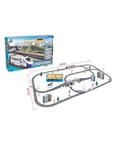 Железная дорога батар 2181 Power Train, длина 914 см,  дет, в кор 59,7*40,5*10 см
