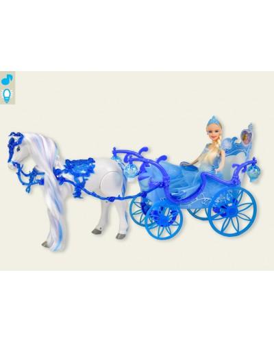 Карета 223A батар. лошадь ходит, куколкой, в кор. 55,8*19*30,2см