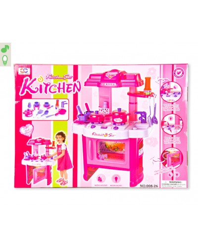"""Набор """"Кухня"""" 008-26 посудка, приборы, плита, духовка, в кор. 43,5*9*60см"""