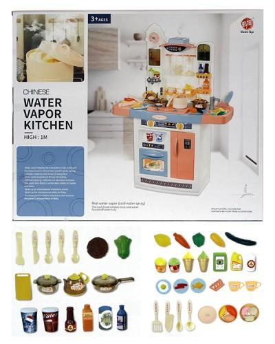"Набор ""Кухня"" 898A свет-звук, течет вода, посудка, в кор. 58*20*49,5см"