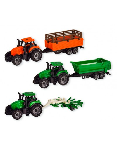 Трактор инерц. 7938ABC  3 вида, в коробке 22,5*6*8,5см