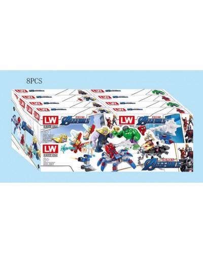 Конструктор 207 Avengers, 61-105дет., цена за дисплей бокс 8 шт, в дисплей боксе 38,7*17,2*14,5 см