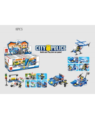 Конструктор 0476 City Police, цена за дисплей бокс, в диспл боксе 37.9*14.5*19.7см