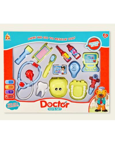 """Доктор """"Стоматолог"""" 881-5 (1867000) челюсть, стетоскоп, шприц, щетка, аксессуары, в кор. 47,5*4*37см"""