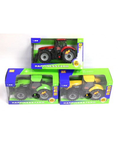 Трактор батар. MK1015S свет, звук, откр. окно, 3 вида, в кор. 19*8.1*11.3см