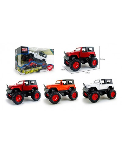 Машина металл 1031-1A 1:32, Monster truck, свет, звук, аммортиз, 3 цвета, р-р машины 12,7*8,1*8,9 см