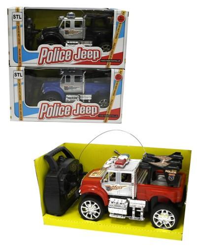 Машина батар. р/у 727-X4 Полицейский джип, 3 цвета, в кор. 21.5*10.5*10.5см