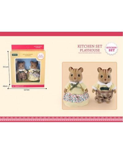 Животные флоксовые G08 Белки, 2 фигурки, в коробке 13,7*4,6*15,1см