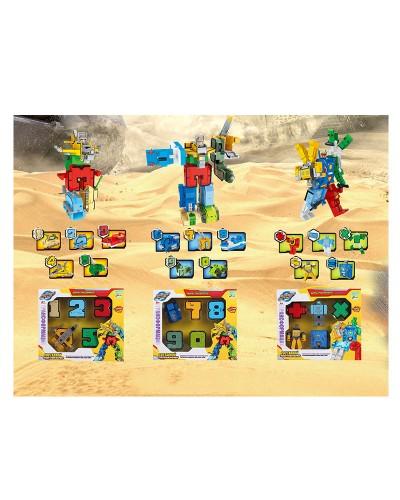 Трансформер 188-36  цифры, 3 вида, 1-5; 6-9,0; матем. символы, к кор. 32.4*6.3*29см