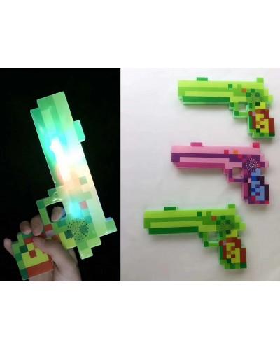 Оружие MW2221 свет, звук, 3 цвета, 21*13см в пакете