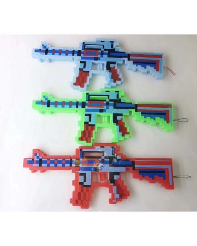 Оружие MW2228 свет, звук, 3 цвета, лазер, 39*17 см в пакете