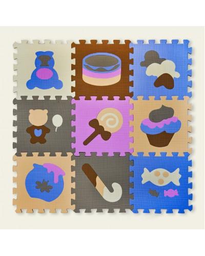 Пазлы фомовые EVA0639 картинки, 9 деталей, 30*30*1 см в пленке