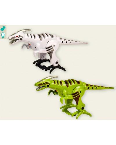 Интерактивное животное D103 Динозавр, 2 цвета, свет, звук, в кор.36*12*16см
