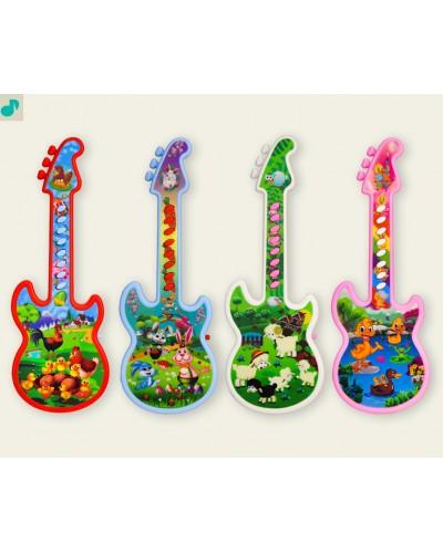 Гитара 8143 4 вида микс, 28см,в пакете 14*33см