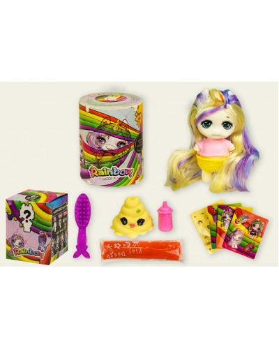 Игровой набор Rainbow BL1151 фигурка 10,5*6см, аксессуары, пластилин, в коробке 9,5*9,5*12