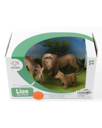 Животные X1046 (1411007) Львы, 2 шт в кор.18,5*10,5*11см