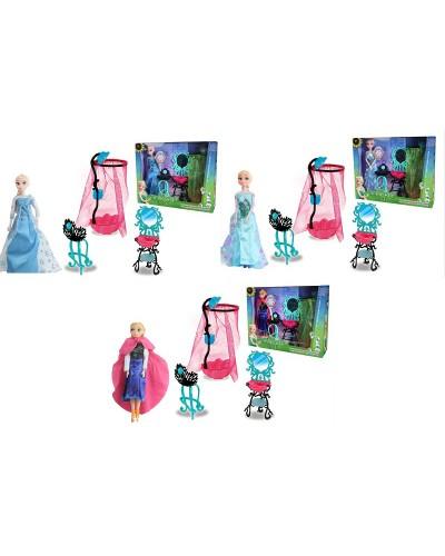 """Кукла """"F"""" 1112A/B/D 3 вида, умывальник с зеркалом, стульчик, душ, в кор.15*4*12см"""