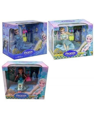 """Кукла """"F"""" 2002B/2003A/2003B 3 вида, шарнир, кровать, аксесс, клипсы в кор. 27,5*32,5*23см"""