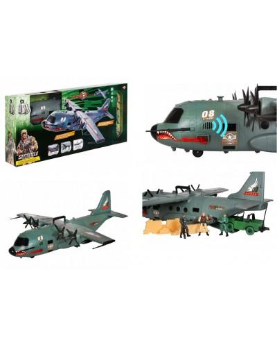 """Военный набор 81-28 """"Самолет"""" батар., свет, звук, в коробке 87*16,5*41,5см"""