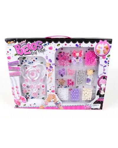 Бисер ZD039 (1627085) набор DIY украшения, бантики, бусинки, в коробке 41*2,5*32см