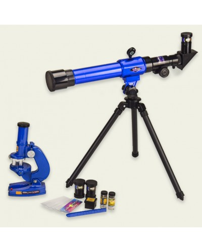 Телескоп+микроскоп C2110 (1369883) батар., аксес., в коробке 43,5*7,5*39см