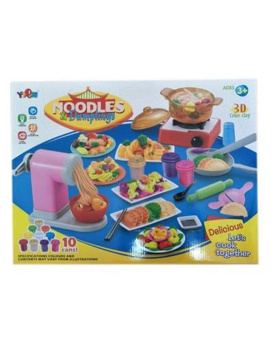 Набор для творчества 8868-1 тесто для лепки 10 цветов, плита, лапшерезка, в кор. 48*36*7,8см