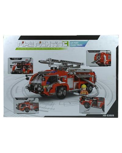 Конструктор  XB-03028 767дет., пожарная машина, в коробке 49*7*35см