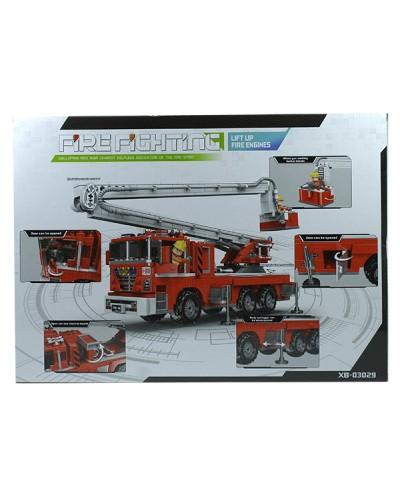 Конструктор  XB-03029 751дет., пожарная машина, в коробке 49*7*35см