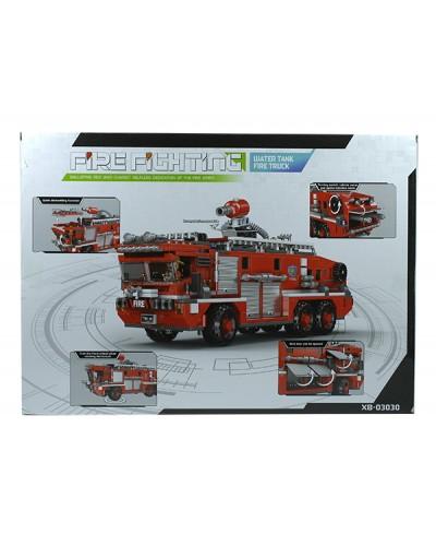 Конструктор XB-03030 720дет., пожарная машина, в коробке 49*7*35см