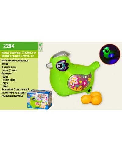 Муз. животное 2284 Птичка, батар, звук, свет, в коробке 17*10*13см