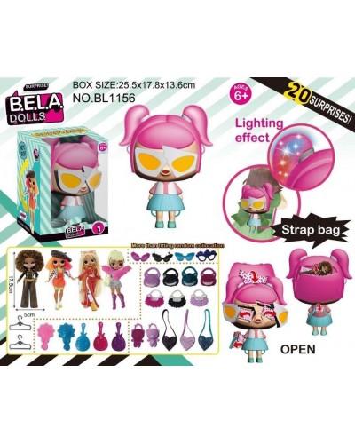 Игровой набор кукла Bella Dolls BL1156 сумка, в кот. + сюрпризы: одежда, украшения, аксес.